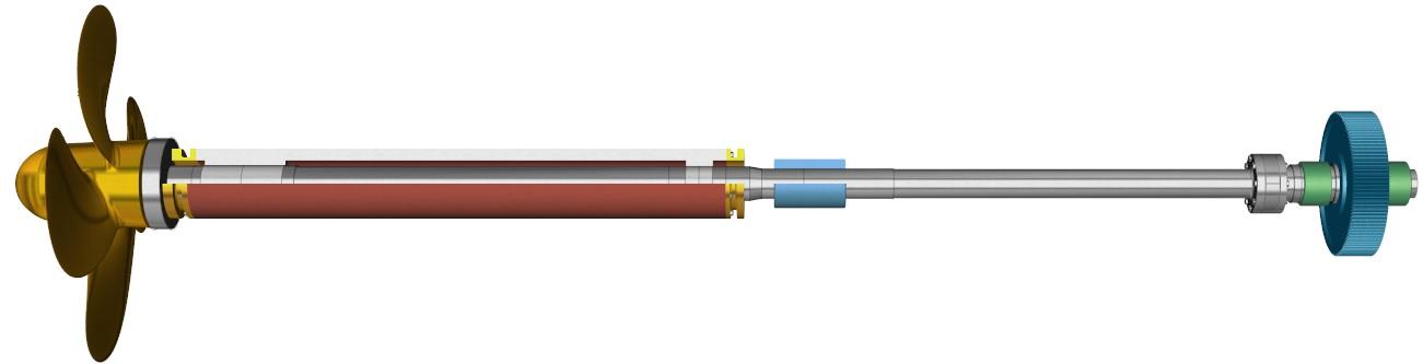 Two bearings shafting
