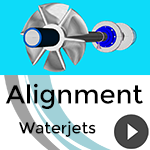 Shaft alignment with ShaftDesigner: Waterjets