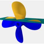 Rapid method for accurate determining propeller volumetric and inertia properties